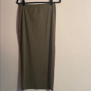 Tube olive green skirt